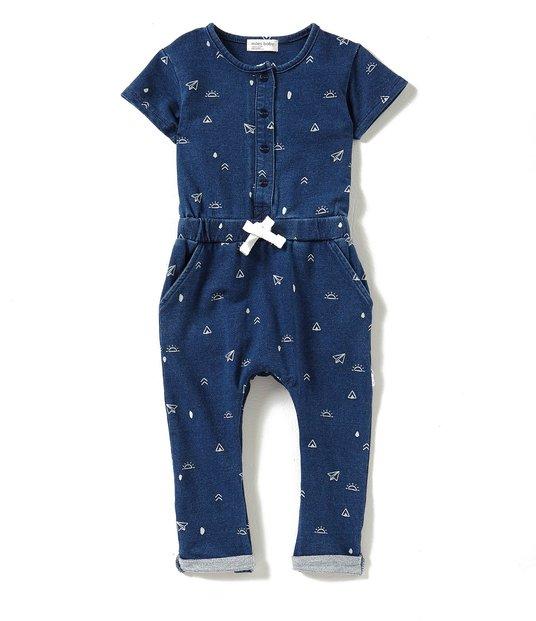 Mac & Mia | Miles Baby Denim Playsuit | Baby Girl Fashion | Baby Girl Summer Fashion | Baby Girl Style | Baby Girl Playsuit